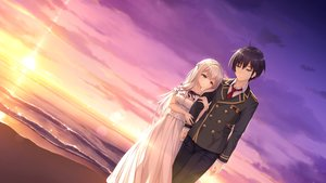 Rating: Safe Score: 28 Tags: beach black_hair blue_eyes brown_eyes clouds dress game_cg kimihara_yua kousaka_tsubame long_hair male mikagami_mamizu pieces/wataridori_no_somnium scenic school_uniform short_hair sky sunset tie water whirlpool white_hair User: mattiasc02