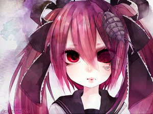 Rating: Safe Score: 81 Tags: bow calne_ca hatsune_miku red_eyes red_hair seifuku vocaloid wakatsuki_you User: FormX
