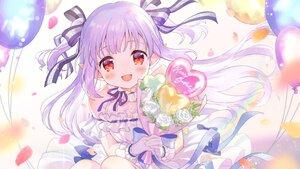 Rating: Safe Score: 48 Tags: blush close dress flowers gloves long_hair mashiro_kanon mashiro_kanon_(channel) pointed_ears purple_hair red_eyes rose sakuro twintails User: BattlequeenYume
