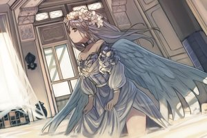 Rating: Safe Score: 16 Tags: angel flowers long_hair original tagme_(artist) User: sadodere-chan