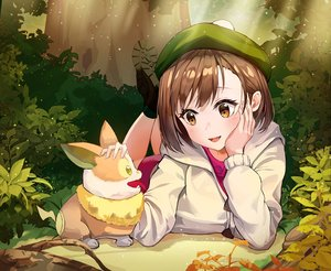 Rating: Safe Score: 35 Tags: animal brown_hair dog forest hat pokemon short_hair tem tree yamper yuuri_(pokemon) User: BattlequeenYume