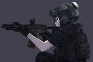 Rating: Safe Score: 197 Tags: armor black black_eyes black_hair gloves gun ivan_wang original weapon User: TommyGunn