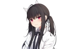 Rating: Safe Score: 58 Tags: amashiro_natsuki animal_ears black_hair bow close long_hair original red_eyes ribbons shirt twintails white User: otaku_emmy