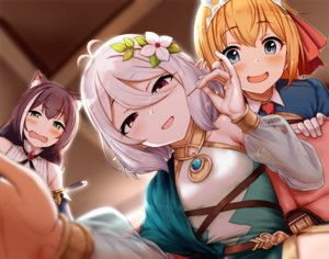 Rating: Safe Score: 39 Tags: animal_ears aoi_chizuru blush brown_hair catgirl close fang flat_chest gray_eyes green_eyes kokkoro kyaru orange_hair pecorine pointed_ears princess_connect! red_eyes see_through short_hair tiara white_hair User: otaku_emmy