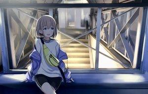 Rating: Safe Score: 24 Tags: idolmaster idolmaster_shiny_colors sakeharasu serizawa_asahi stairs User: FormX