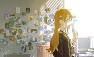 Rating: Safe Score: 36 Tags: aqua_eyes blonde_hair long_hair loundraw original signed User: RyuZU