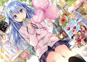 Rating: Safe Score: 67 Tags: blue_eyes blue_hair blush bunny candy cropped flowers food fruit lollipop long_hair natsume_eri original scan skirt strawberry User: BattlequeenYume
