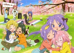 Rating: Safe Score: 34 Tags: akitake_seiichi blonde_hair blue_eyes blush cat_smile flowers glasses green_eyes green_hair hiiragi_kagami hiiragi_tsukasa iwasaki_minami izumi_konata kobayakawa_yutaka kogami_akira kuroi_nanako long_hair lucky_star microphone narumi_yui pink_hair purple_eyes purple_hair red_hair scan shiraishi_minoru short_hair takara_miyuki tamura_hiyori twintails User: Maho