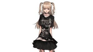 Rating: Safe Score: 43 Tags: amane_misa black_eyes blonde_hair book choker cross death_note garter_belt gothic long_hair mano_aaa necklace skirt twintails white User: mattiasc02