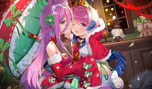 Rating: Safe Score: 85 Tags: catgirl christmas hoodie horns japanese_clothes santa_costume tagme_(character) tail umbrella zhongwu_chahui User: Fepple