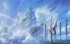 Rating: Safe Score: 68 Tags: clouds dragon kagumanikusu original scenic sky water waterfall User: RyuZU