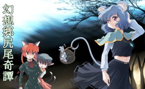 Rating: Safe Score: 24 Tags: animal_ears brown_eyes brown_hair catgirl chen gray_hair hat kaenbyou_rin mousegirl nazrin red_eyes red_hair short_hair tail touhou twintails wancozow User: SciFi