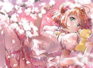 Rating: Safe Score: 54 Tags: card_captor_sakura cherry_blossoms dress flowers geshumaro green_eyes kero kinomoto_sakura orange_hair petals pink short_hair thighhighs twintails User: BattlequeenYume