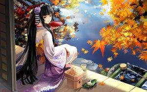 Rating: Safe Score: 138 Tags: alphonse autumn black_hair brown_eyes drink japanese_clothes kimono original sake water yukata User: 秀悟