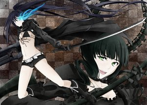 Rating: Safe Score: 109 Tags: black_rock_shooter green_eyes katana koshi-kun kuroi_mato long_hair sword takanashi_yomi weapon User: HawthorneKitty