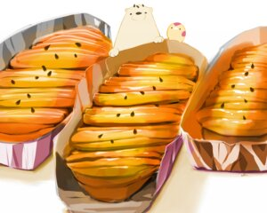 Rating: Safe Score: 10 Tags: animal bear bird chai_(artist) cropped food nobody original polychromatic signed User: otaku_emmy
