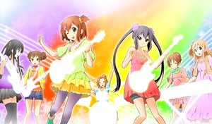Rating: Safe Score: 19 Tags: akiyama_mio black_eyes black_hair blonde_hair blue_eyes brown_eyes brown_hair dress drums group guitar hirasawa_ui hirasawa_yui instrument kisuke_(akutamu) k-on! kotobuki_tsumugi long_hair nakano_azusa pantyhose short_hair shorts skirt suzuki_jun tainaka_ritsu thighhighs twintails waifu2x wink User: RyuZU