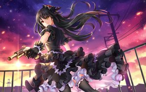 Rating: Safe Score: 87 Tags: bicolored_eyes black_hair cropped date_a_live dress gloves goth-loli gun lolita_fashion long_hair night thighhighs tokisaki_kurumi weapon yue_xiao_e User: Nepcoheart