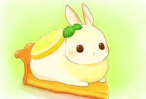 Rating: Safe Score: 53 Tags: animal daikichi_(pixiv13506351) food fruit gradient leaves original rabbit signed User: otaku_emmy