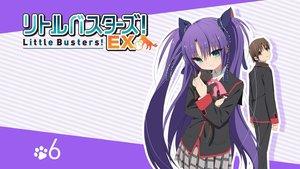 Rating: Safe Score: 36 Tags: animal cat little_busters! long_hair naoe_riki sasasegawa_sasami school_uniform skirt tagme_(artist) twintails User: Wiresetc