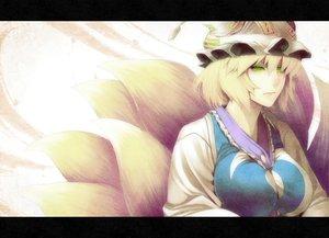 Rating: Safe Score: 34 Tags: animal_ears foxgirl multiple_tails rby tail touhou yakumo_ran User: HawthorneKitty