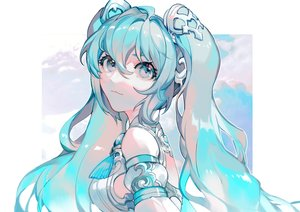 Rating: Safe Score: 42 Tags: azalea blue_eyes blue_hair hatsune_miku long_hair polychromatic twintails vocaloid User: FormX