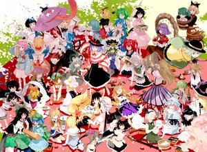 Rating: Safe Score: 91 Tags: alice_margatroid animal_ears apron barefoot black_hair blonde_hair blue_hair blush bow braids brown_hair bunny_ears bunnygirl catgirl chen cirno doll drink fairy food foxgirl grass gray_hair green_eyes green_hair group hakurei_reimu hat headband headdress heart hijiri_byakuren himekaidou_hatate hinanawi_tenshi horns hoshiguma_yuugi houjuu_nue ibuki_suika inaba_tewi izayoi_sakuya japanese_clothes kaenbyou_rin kagiyama_hina katana kawashiro_nitori kazami_yuuka kirisame_marisa kisume kochiya_sanae komeiji_koishi komeiji_satori konpaku_youmu kumoi_ichirin kurodani_yamame leaves long_hair luna_child maid medicine_melancholy miko minakata_sunao mizuhashi_parsee moriya_suwako mousegirl multiple_tails murasa_minamitsu myon nagae_iku nazrin onozuka_komachi pink_eyes pink_hair ponytail purple_hair red_eyes red_hair reiuji_utsuho remilia_scarlet ribbons saigyouji_yuyuko shameimaru_aya shanghai_doll shikieiki_yamaxanadu short_hair skirt star_sapphire su-san sword tail tatara_kogasa tears tie toramaru_shou touhou twintails umbrella unzan vampire weapon white_hair wings witch witch_hat yakumo_ran yakumo_yukari yasaka_kanako User: Neutral