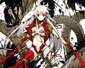 Rating: Safe Score: 159 Tags: armor cropped g_yuusuke long_hair original red_eyes sword weapon white_hair User: Wiresetc