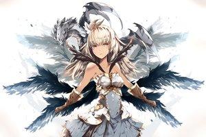 Rating: Safe Score: 77 Tags: armor blonde_hair dark_skin dragon dress gloves granblue_fantasy long_hair tagme_(artist) wings yellow_eyes zooey_(granblue_fantasy) User: BattlequeenYume