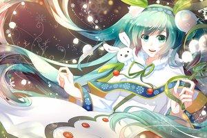 Rating: Safe Score: 37 Tags: green_eyes green_hair hatsune_miku long_hair phino_(jinko0094) vocaloid yuki_miku User: FormX