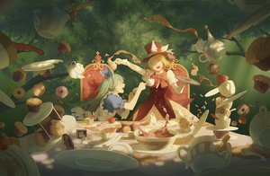 Rating: Safe Score: 34 Tags: alice_in_wonderland cosplay food hatsune_miku kagamine_rin spencer_sais vocaloid User: FormX