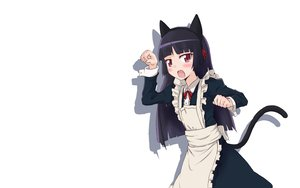 Rating: Safe Score: 79 Tags: animal_ears blush catgirl gokou_ruri haiyuni ore_no_imouto_ga_konna_ni_kawaii_wake_ga_nai tail white User: SciFi