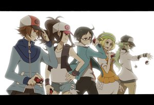 Rating: Safe Score: 86 Tags: bel_(pokemon) black_hair blonde_hair brown_hair cheren glasses gray_eyes green_eyes green_hair group hat long_hair male n pokemon red_eyes sei_(shinkai_parallel) short_hair shorts touko_(pokemon) touya wristwear User: FormX