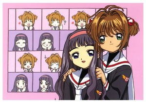 Rating: Safe Score: 3 Tags: 2girls black_hair blue_eyes blush brown_hair card_captor_sakura clamp daidouji_tomoyo headband kinomoto_sakura long_hair scan short_hair tie twintails User: RyuZU