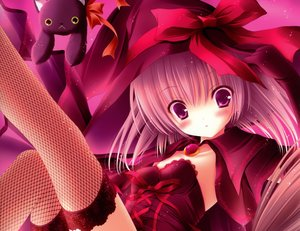 Rating: Safe Score: 91 Tags: animal cat elbow_gloves original pink_eyes pink_hair thighhighs tinkle witch User: SciFi