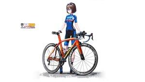 Rating: Safe Score: 26 Tags: bicycle bike_shorts brown_hair glasses gloves hitomi_kazuya original short_hair shorts skintight watermark white User: gnarf1975