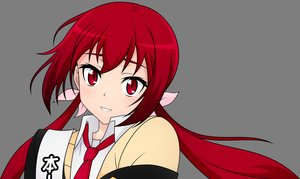 Rating: Safe Score: 30 Tags: joukamachi_no_dandelion long_hair red_eyes red_hair sakurada_akane tie transparent twintails vector User: RyuZU
