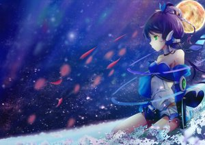 Rating: Safe Score: 60 Tags: luo_tianyi moon night vocaloid vocaloid_china User: luckyluna