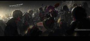 Rating: Safe Score: 179 Tags: bow ebisuzawa_kurumi gakkou_gurashi! gloves mivit night purple_eyes purple_hair rain signed skirt twintails water watermark weapon User: Flandre93