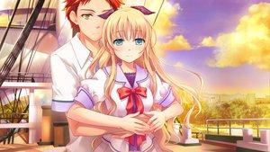 Rating: Safe Score: 11 Tags: astraythem game_cg ginta hug male sakurazuka_natsuki sakurazuka_tsukumo User: Maboroshi
