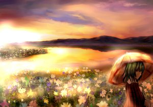Rating: Safe Score: 74 Tags: flowers green_hair kazami_yuuka landscape misako scenic short_hair touhou umbrella User: RoronoAxMihawK