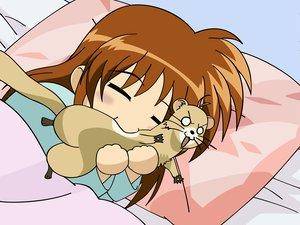 Rating: Safe Score: 20 Tags: mahou_shoujo_lyrical_nanoha sleeping takamachi_nanoha vector yuuno_scrya User: Oyashiro-sama