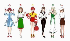 Rating: Safe Score: 21 Tags: braids brown_eyes brown_hair choker dress green_hair hat kfc kisaragi_yuu_(fallen_sky) logo long_hair mcdonald's mister_donut mosburger pantyhose ponytail red_eyes red_hair shirt short_hair shorts signed skirt socks starbucks suit twintails wendy's white yellow_eyes User: otaku_emmy