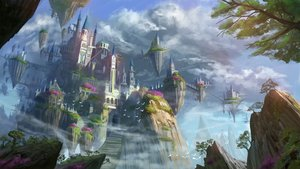 Rating: Safe Score: 68 Tags: airship ame_sagari building clouds original scenic sky tree User: otaku_emmy