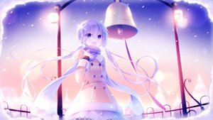 Rating: Safe Score: 41 Tags: bell blue_eyes blue_hair braids dress long_hair sakakidani scarf snow twintails vocaloid voiceroid yuzuki_yukari User: otaku_emmy