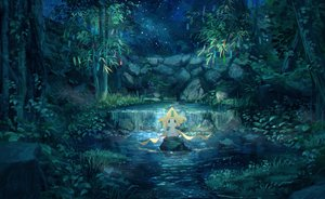 Rating: Safe Score: 64 Tags: jirachi night pippi_(p3i2) pokemon scenic stars water User: RyuZU