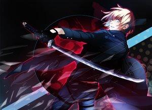 Rating: Safe Score: 41 Tags: all_male aqua_eyes armin_arlert blonde_hair gloves katagawa_mika katana male shingeki_no_kyojin short_hair sword water weapon User: RyuZU