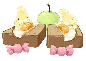 Rating: Safe Score: 4 Tags: animal apple candy food fruit lilac_(pfeasy) nobody original rabbit waifu2x white User: otaku_emmy