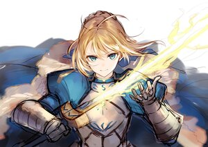 Rating: Safe Score: 54 Tags: armor artoria_pendragon_(all) blonde_hair cape fate_(series) fate/stay_night gloves green_eyes jazztaki magic saber sketch sword weapon User: Maboroshi