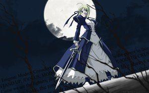 Rating: Safe Score: 35 Tags: artoria_pendragon_(all) dress fate_(series) fate/stay_night moon saber sword third-party_edit weapon User: Mund